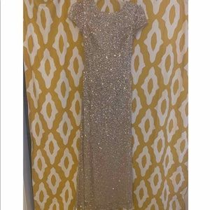 Adrianna Papell size 2 sequins gown